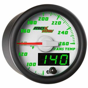 MaxTow Double Vision 260 F Transmission Temperature gauge - Transmission Cooler Guide