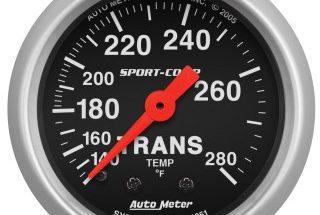Autometer Sport Comp 3351 transmission temperature gauge - Transmission Cooler Guide