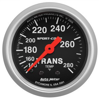 Autometer Sport Comp 3351 transmission temperature gauge - Transmission Cooler Guide