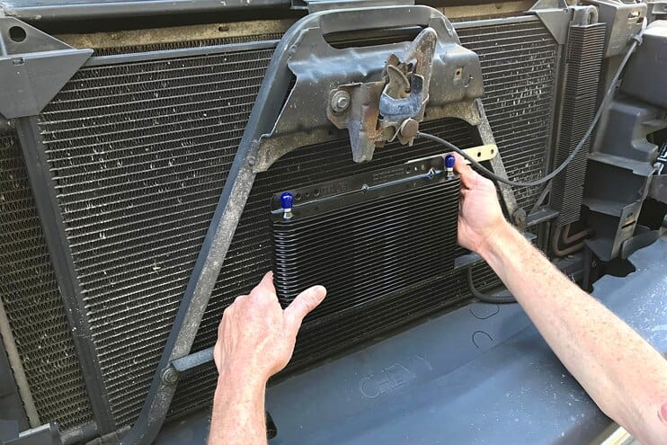 B&M 70264 SuperCooler Transmission Cooler Installation