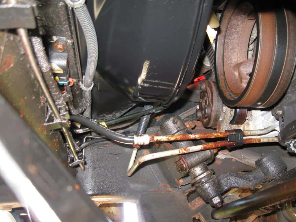 Rusty Transmission Cooler Lines on Silverado and Sierra - Transmission Cooler Guide