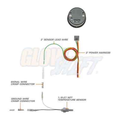 GlowShift 7 Color Transmission Temp Gauge Wiring Harness - Transmission Cooler Guide