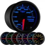 GlowShift Black 7 Color Transmission Temperature Gauge - Transmission Cooler Guide