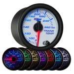 GlowShift White 7 Color Transmission Temperature Gauge - Transmission Cooler Guide